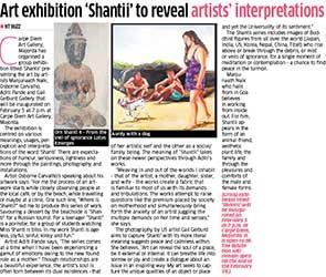 Art exhibition 'Shantii' to reveal artist's interpretations