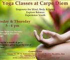 Weekly yoga classes