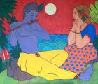 Krishna Serenading Radha