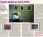 Art chooses people as 'great artists'